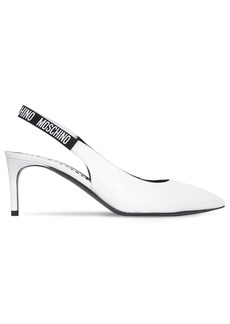 Moschino 55mm Leather Sling Back Pumps