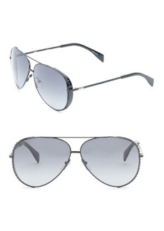 Moschino 61MM Aviator Sunglasses