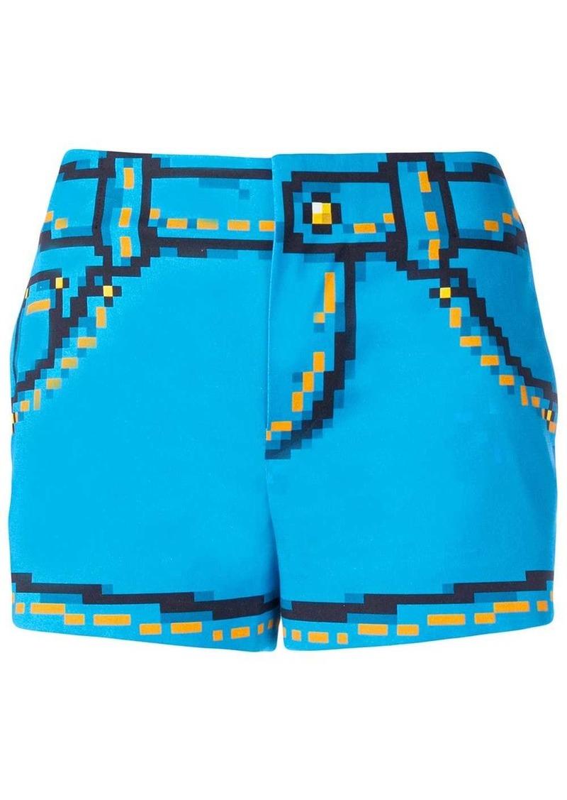Moschino 8bit printed shorts