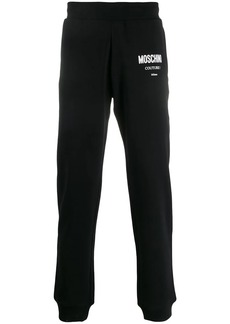 Moschino logo print track trousers