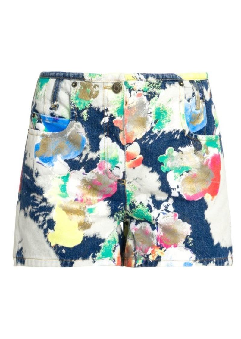 Moschino Abstract Print Denim Shorts