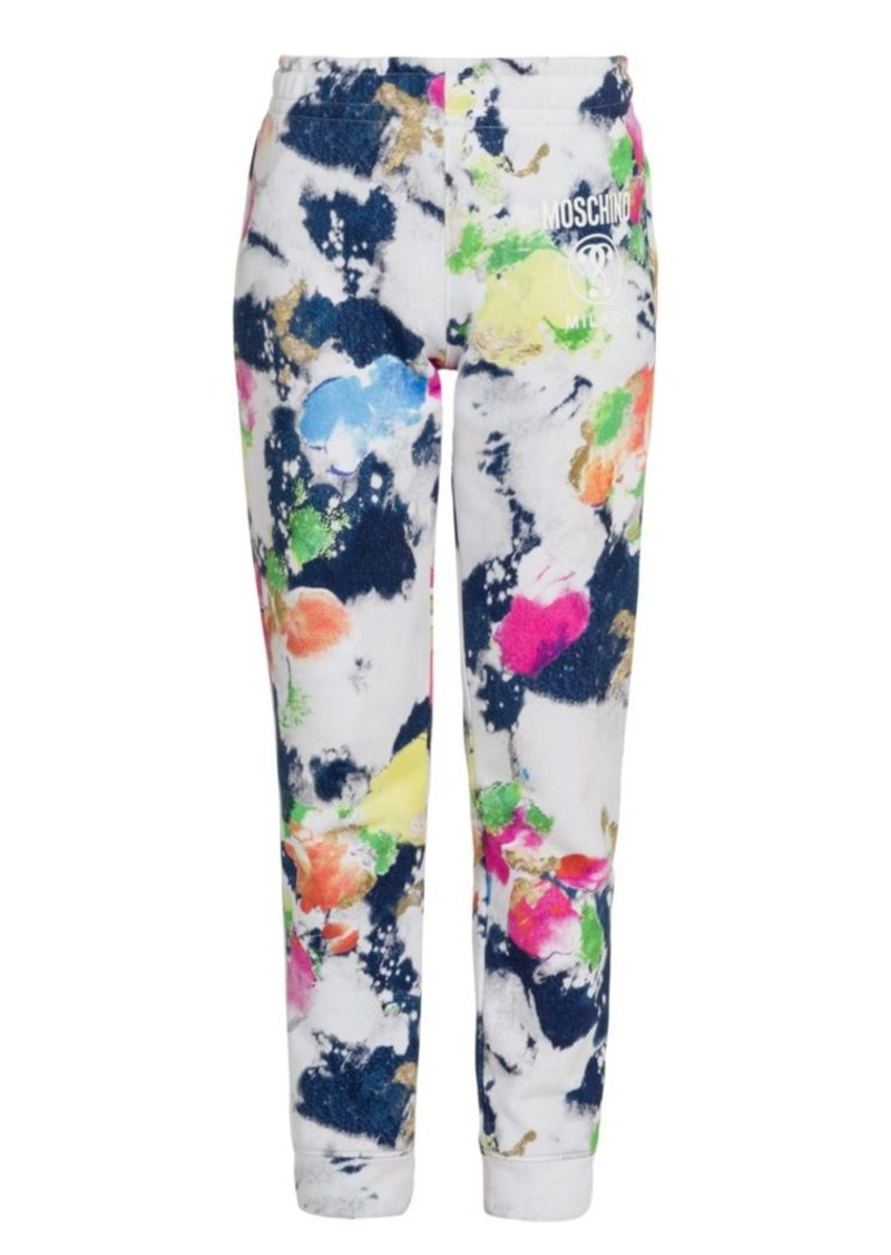 Moschino Abstract Print Joggers