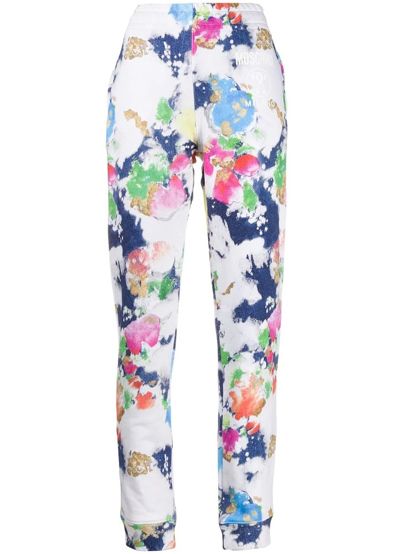 Moschino abstract print track pants