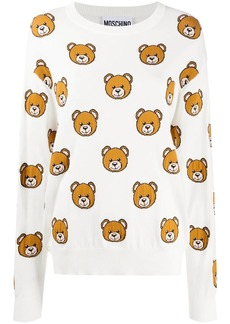 Moschino all-over Teddy Bear jumper