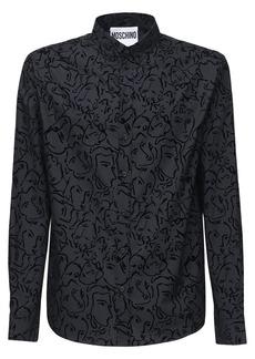 Moschino Allover Print Cotton Shirt