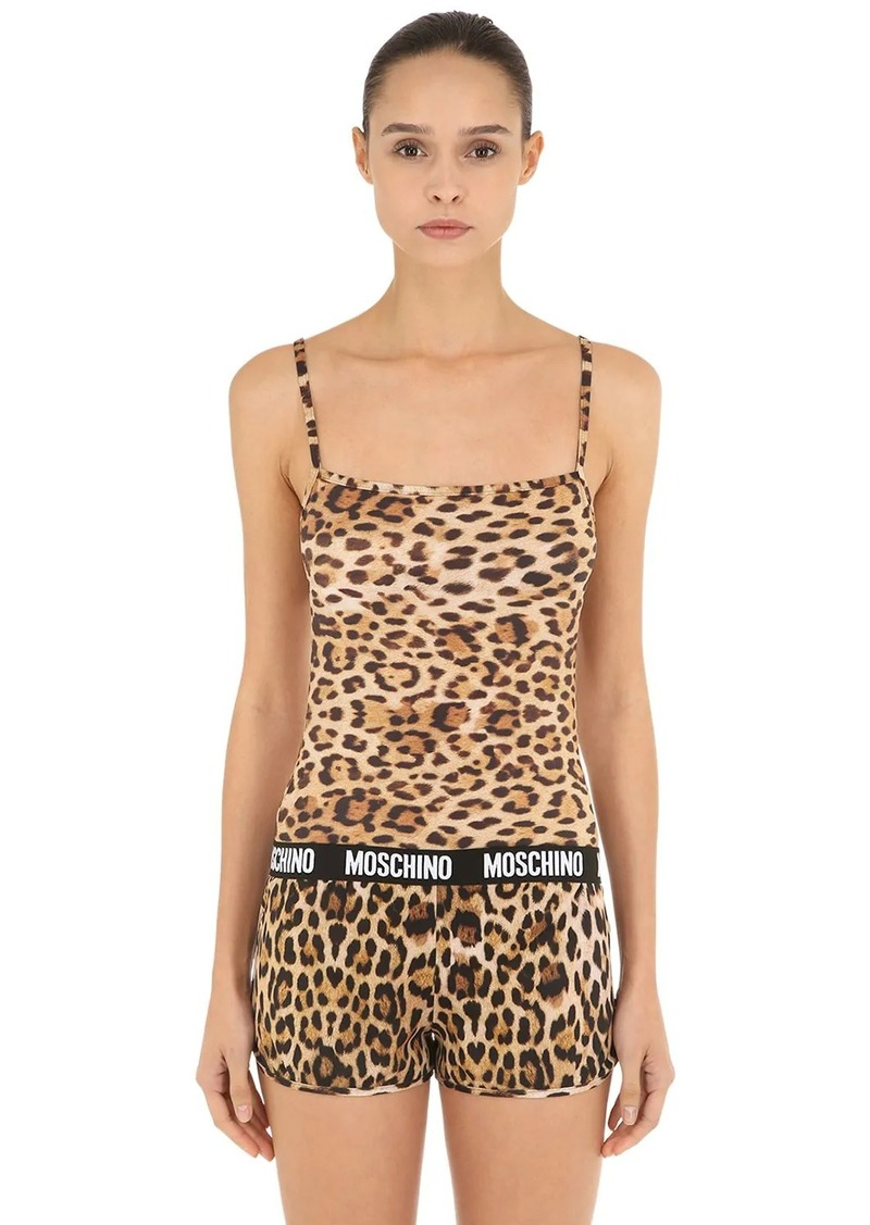 Moschino Animal Logo Band Microfiber Tank Top