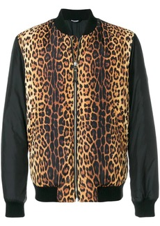 Moschino animal print bomber jacket
