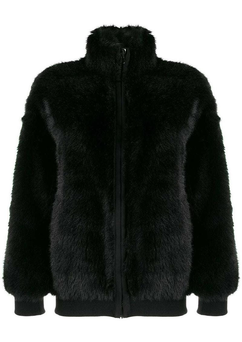 Moschino appliquéd bomber jacket