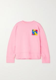 Moschino Appliquéd Cotton-jersey Sweatshirt