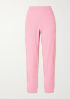 Moschino Appliquéd Cotton-jersey Track Pants