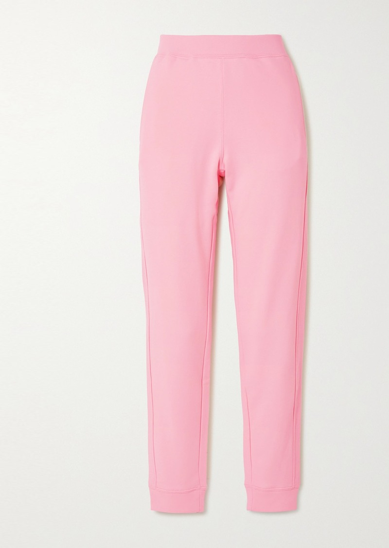 Moschino Appliquéd Cotton-jersey Track Pants