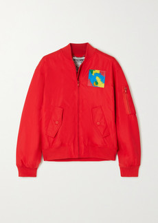Moschino Appliquéd Shell Bomber Jacket