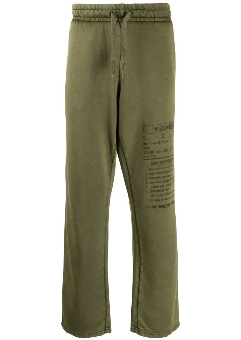 Moschino Army Label track pants