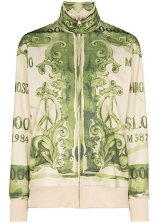 Moschino bank note print sweatshirt
