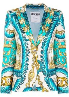 Moschino baroque-print blazer