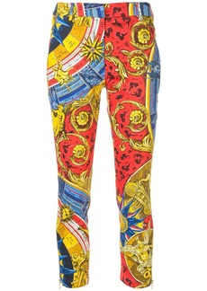 Moschino baroque print cropped trousers