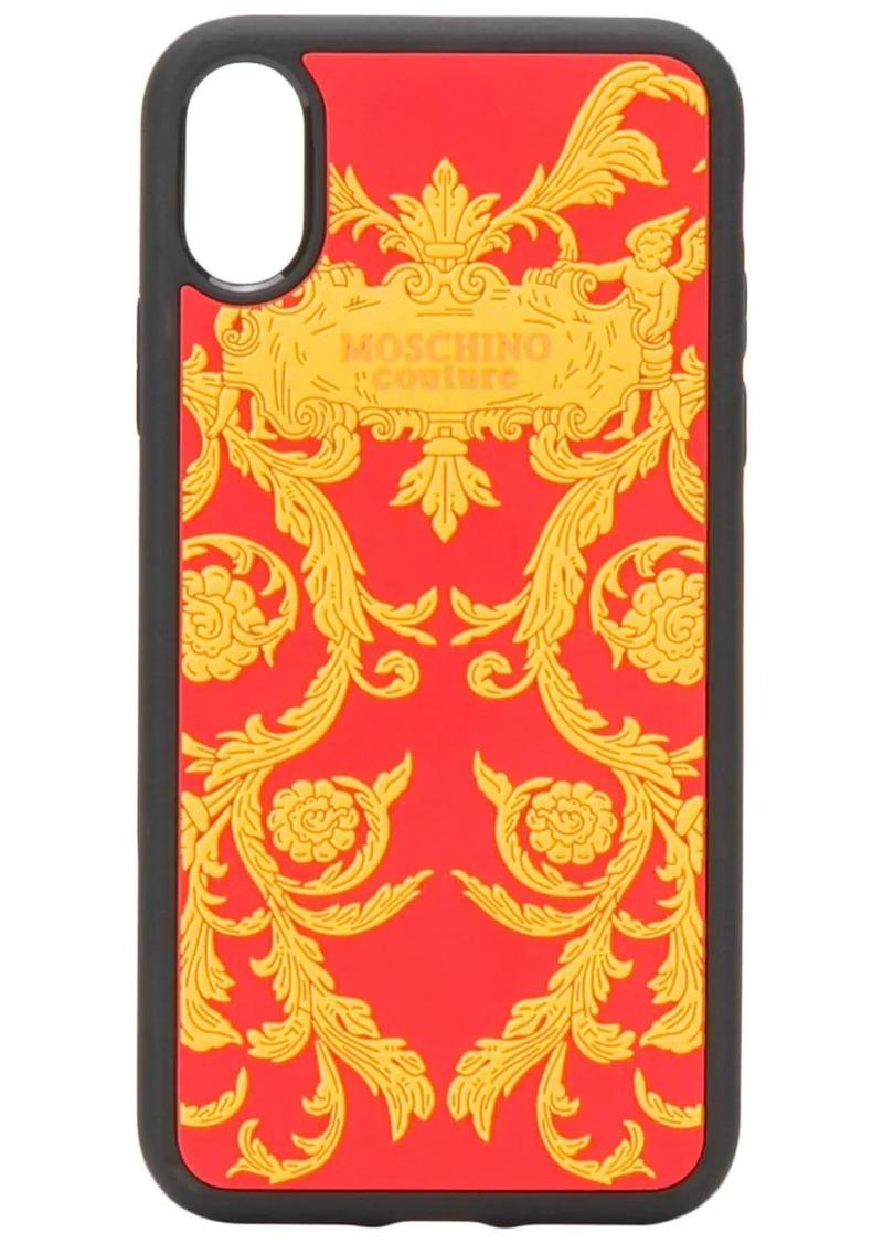 Moschino baroque print iPhone XS/ X case
