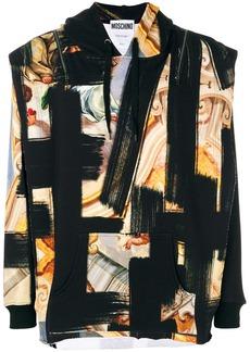 Moschino baroque printed hoodie