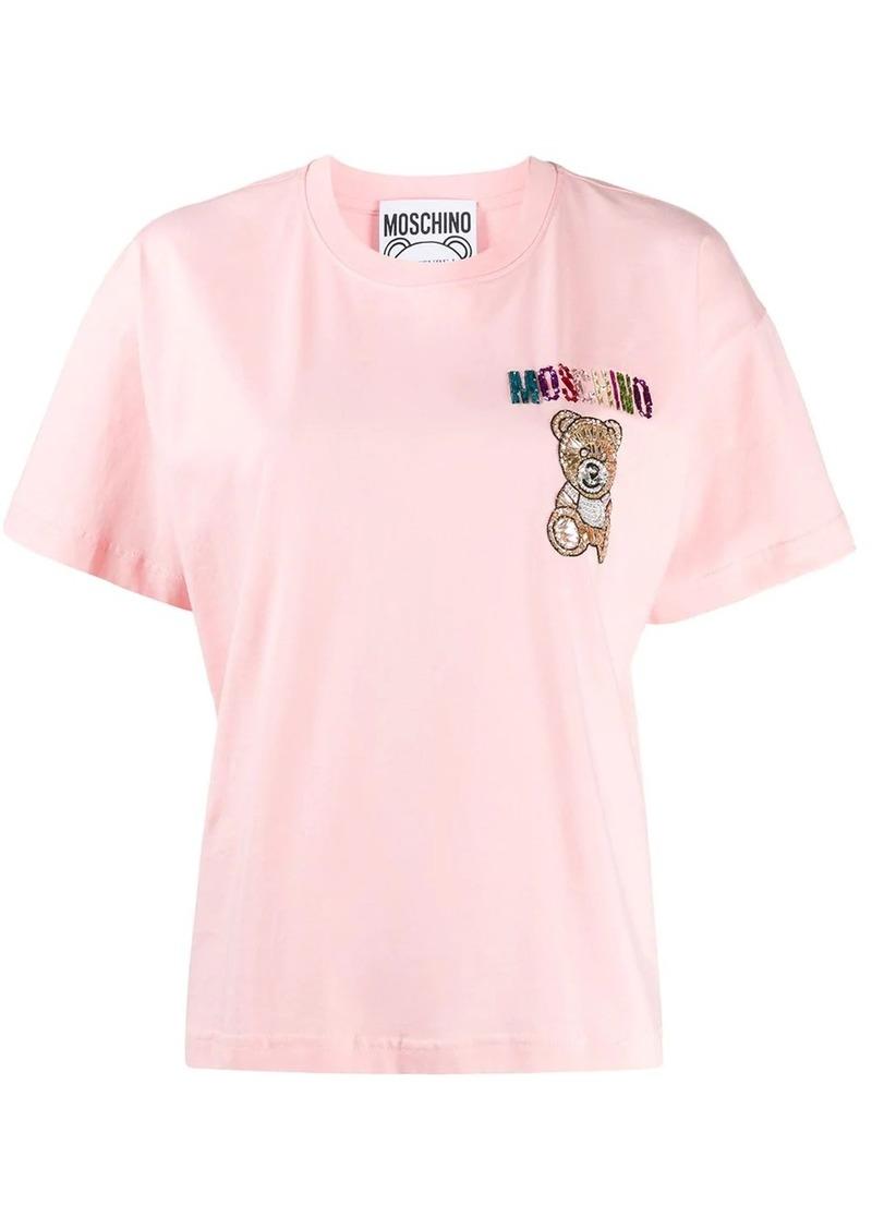 Moschino beaded detail T-shirt