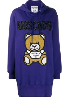 Moschino beaded Teddy Bear hoodie dress