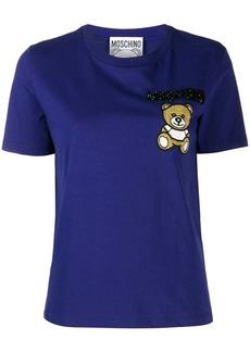 Moschino beaded teddy bear patch T-shirt