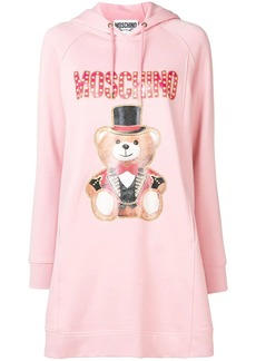 Moschino bear print hooded dress