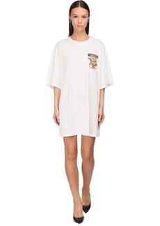 Moschino Bear Printed Cotton Jersey T-shirt Dress