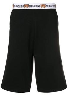 Moschino bear waistband track shorts