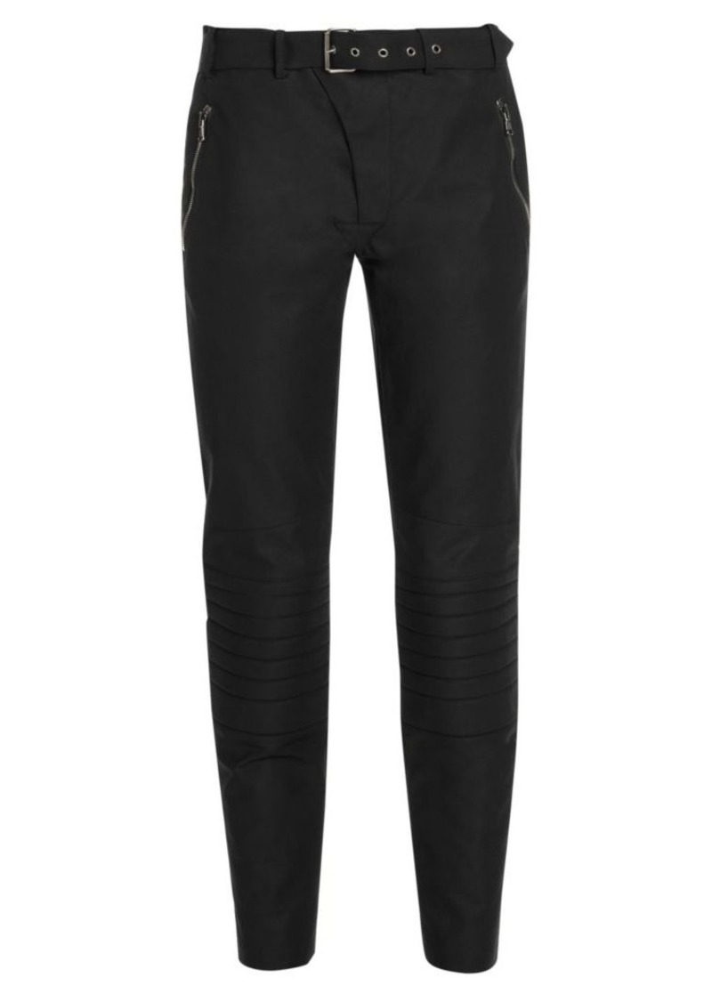 Moschino Belted Moto Trousers