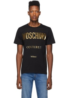 Moschino Black & Gold 'Couture!' T-Shirt