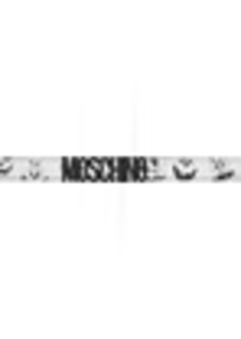 Moschino Black & White Pumpkin Faces Belt