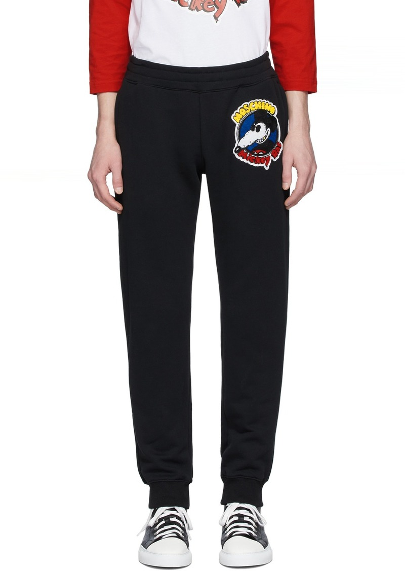 Moschino Black Chinese New Year Mickey Rat Lounge Pants