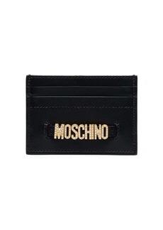 Moschino embellished-logo cardholder