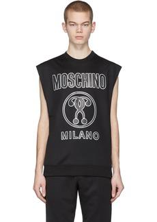 Moschino Black Logo Sleeveless T-Shirt