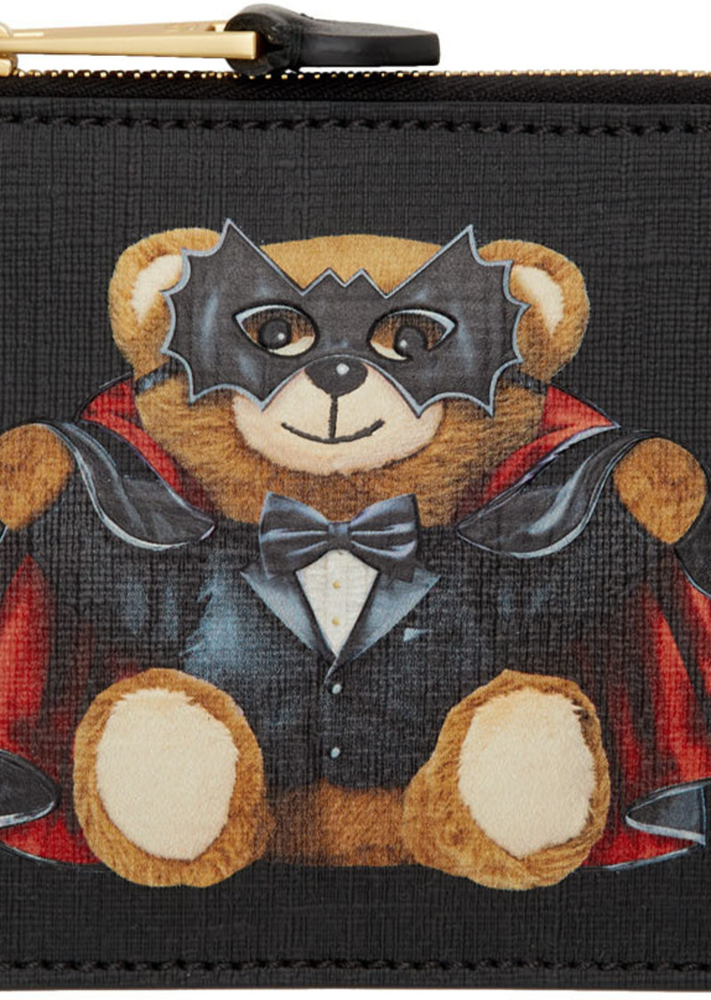 Moschino Black Magician Teddy Bear Zip Wallet