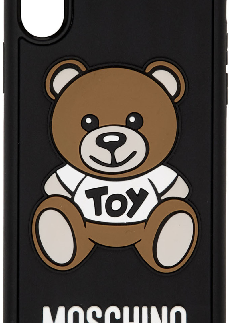 Moschino Black Teddy Bear iPhone X Case