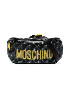 Moschino pixel logo print belt bag