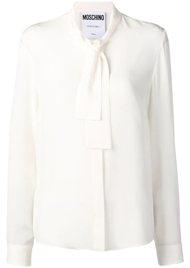 Moschino bow collar shirt