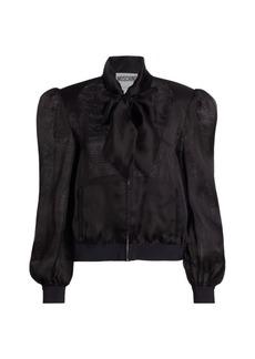 Moschino Bow Silk Jacket