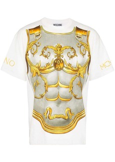 Moschino breastplate armour print T-Shirt