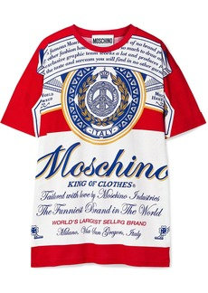 Moschino Budweiser Oversized Printed Cotton-jersey T-shirt
