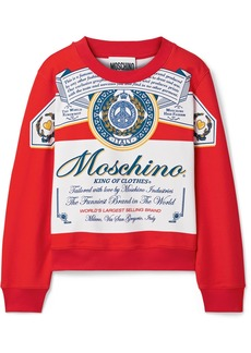 Moschino Budweiser Printed Cotton-jersey Sweatshirt