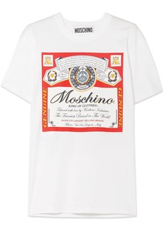 Moschino Budweiser Printed Cotton-jersey T-shirt
