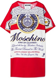Moschino Budweiser Printed Stretch-crepe Mini Dress
