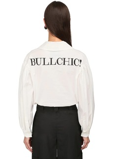 Moschino Bullchic Stretch Cotton Poplin Shirt