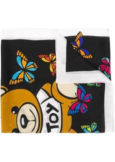 Moschino butterfly print silk scarf