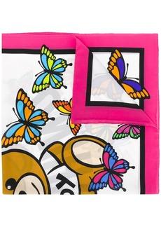 Moschino butterfly teddy scarf