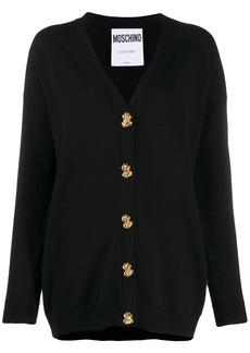 Moschino button-down fine knit cardigan