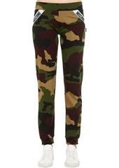 Moschino Camouflage Cotton Sweatpants