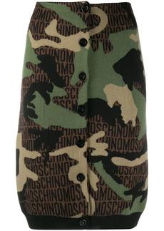 Moschino camouflage knitted pencil skirt